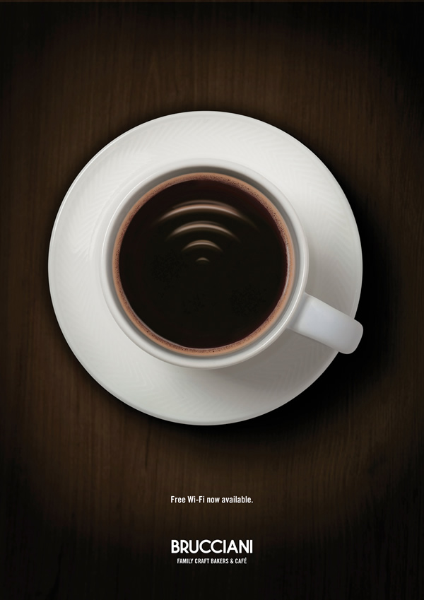 Free Wi-Fi now available. Brucciani Family Craft Bakers & Café