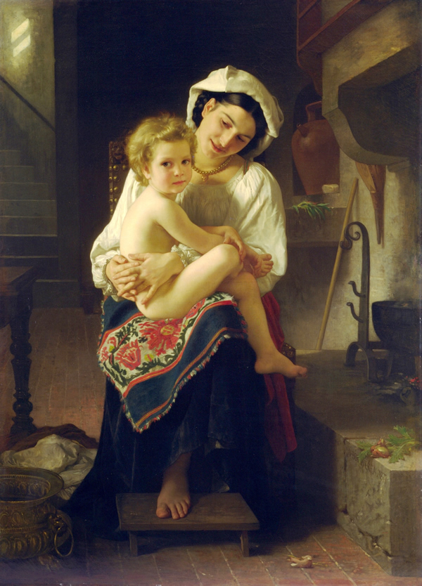 Young Mother Gazing At Her Child, 1871