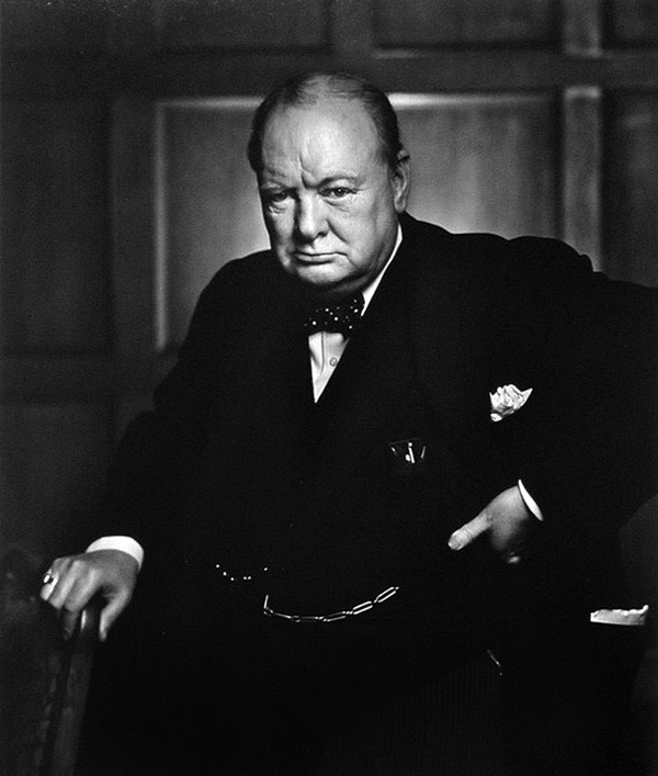 Winston Churchill – Portrait by Yousuf Karsh