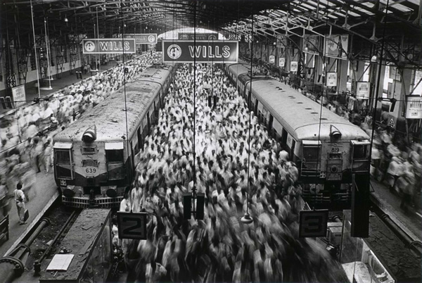 Churchgate Train Station by Sebastiao Salgado
