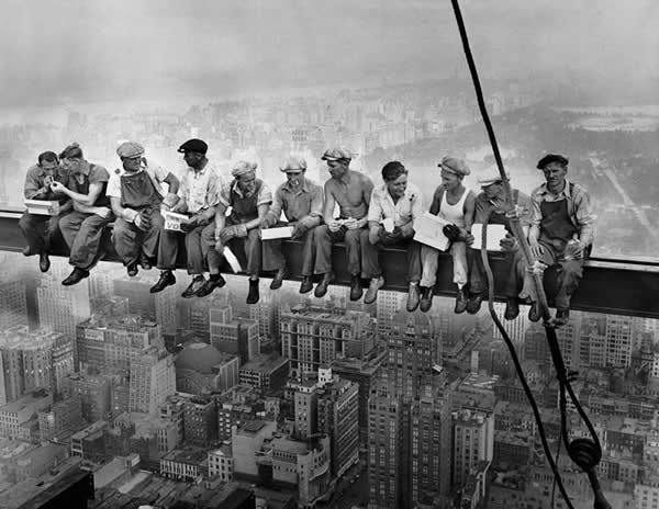 Lunch Atop a Skyscraper by Charles C.Ebbets
