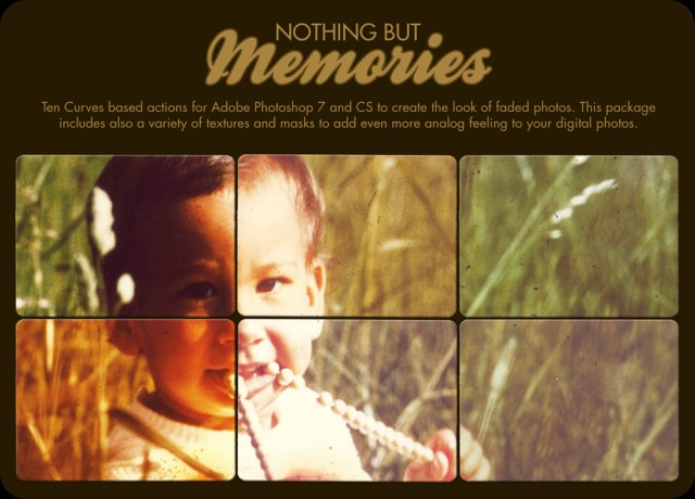 Nothing but Memories Photshop Actions