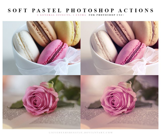 Soft Pastel Photoshop Actions