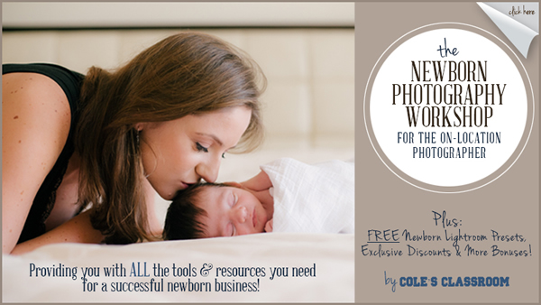 Online Newborn Photography Workshop & Training by Cole's Classroom