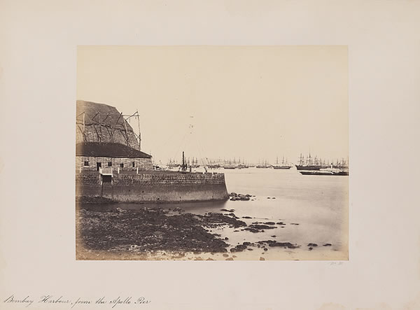 Bombay Harbour, from the Apollo Pier, 1855-1862