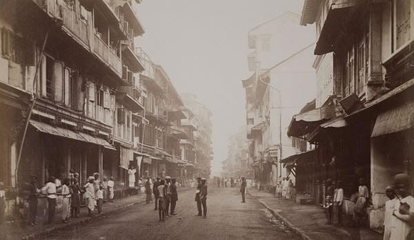 Borah Bazaar Street, Bombay (Mumbai) - 1875