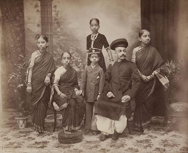 Group of Brahmins, Bombay (Mumbai) - 1870