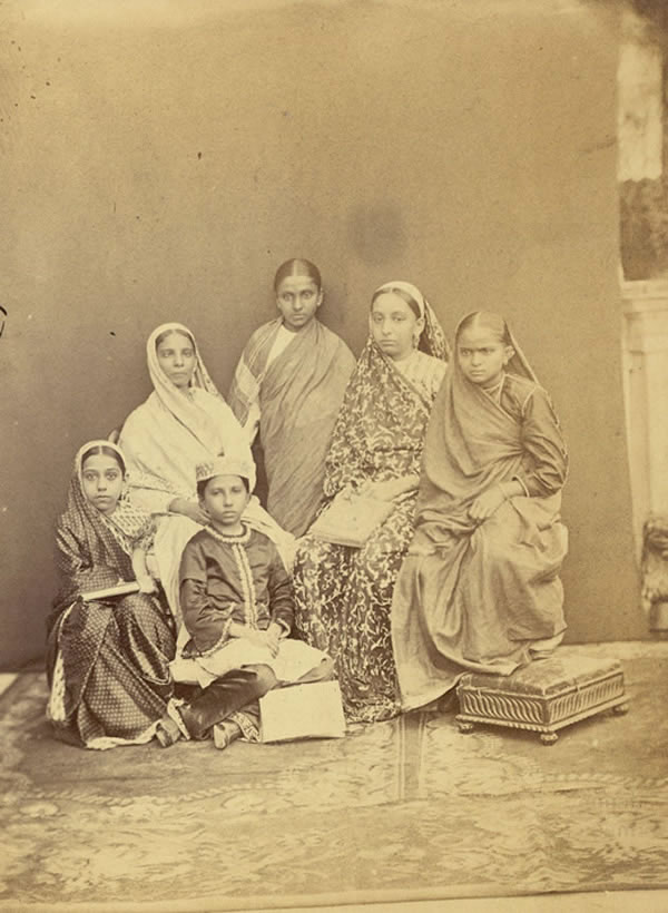 Group of pupils of the Alexandra Native Girls' Institution, Bombay - 1873