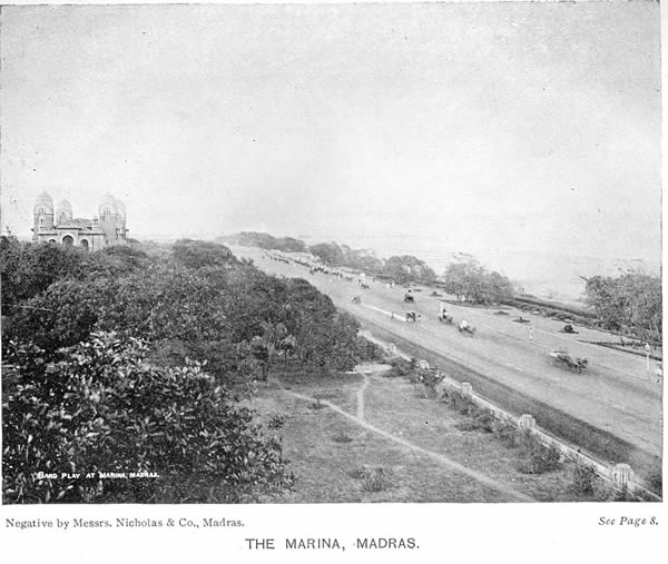 Marina beach and promenade - Madras (Chennai) - 1913