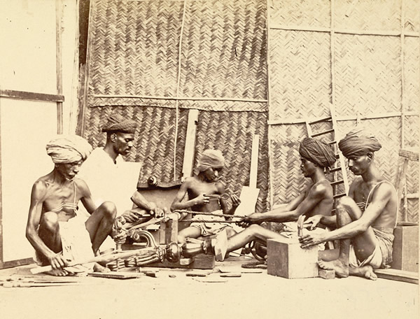 Carpenters at Work - Madras (Chennai)