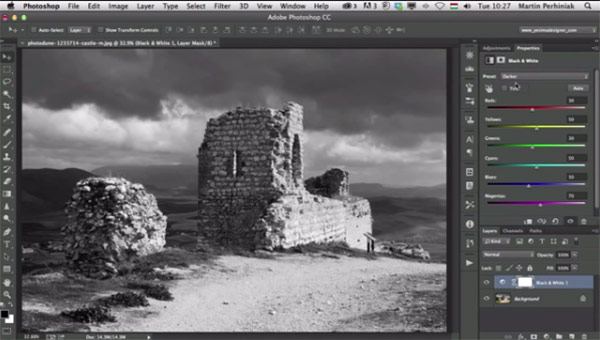 Guide to Black & White Adjustment Layers