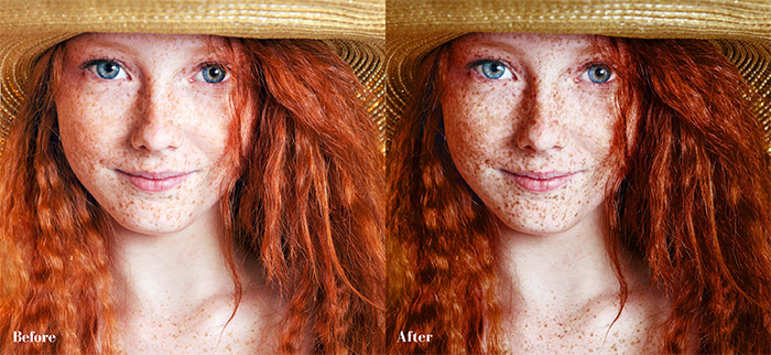 Dramatic Freckles Photoshop Action
