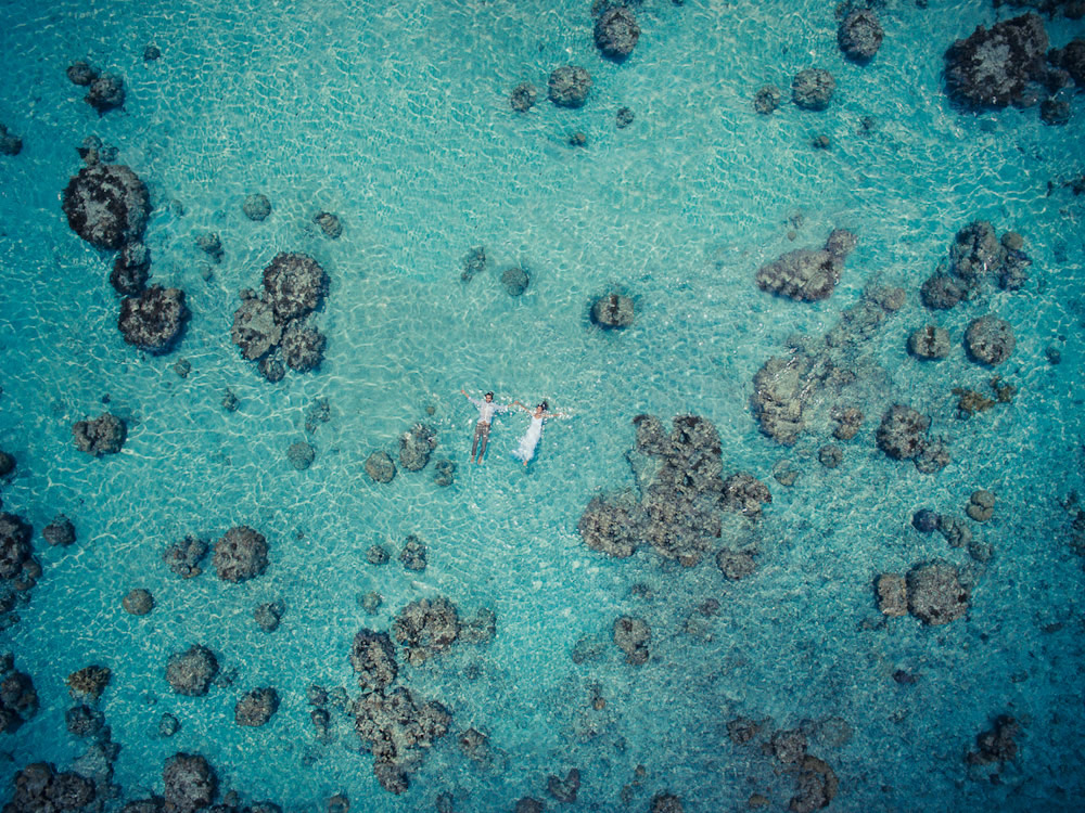 Alone In The World - Wedding Photographs Captured With Drone By Helene Havard