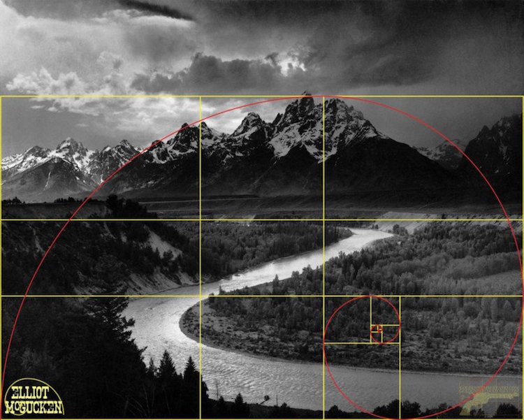 Golden Ratio in Ansel Adams Photos