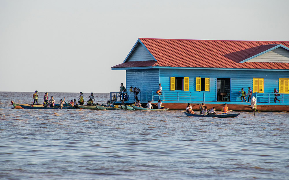Life On The Water - A Floating Village On Tonle Sap Lake By Sirsendu Gayen