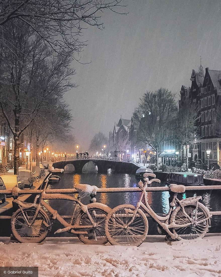 Dutch Photographer Gabriel Guita Beautifully Captured Amsterdam Covered By Heavy Snow