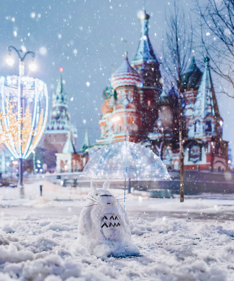 Russian Photographer Kristina Makeeva Beautifully Captured Moscow During Snowfall