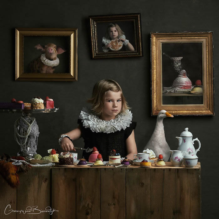 Dutch Photographer Gemmy Woud-Binnendijk Shoots Portraits In the Style Of Classic Paintings