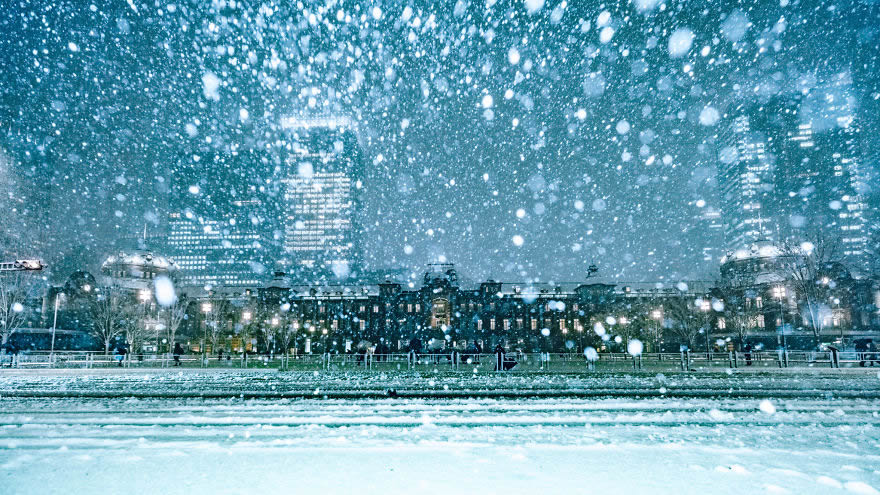 #4 Snow Covered Tokyo Station
