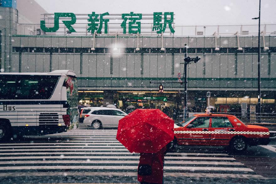 #9 Snowy Shinjuku, Tokyo