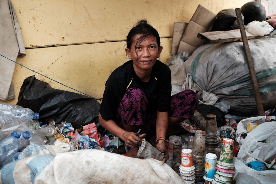 This Woman Makes A Living By Collecting Plastic And Recycling It