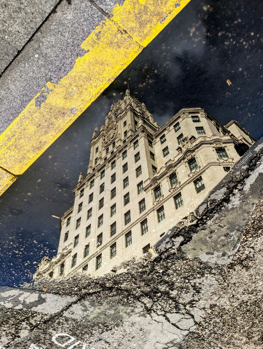 Amazing Photos Of Reflections In Puddles: Captured By Guido Gutiérrez Ruiz With His Smartphone - 121Clicks.com