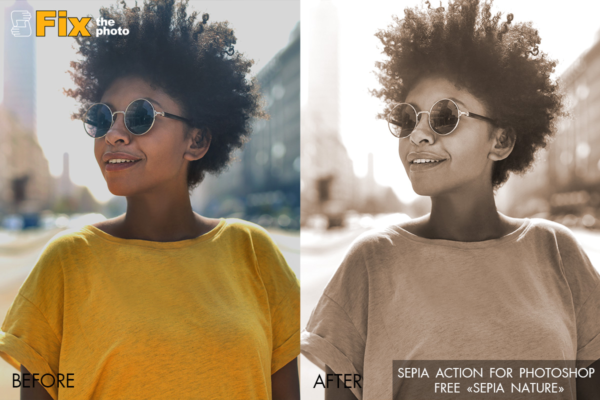 Free Photoshop Sepia Actions