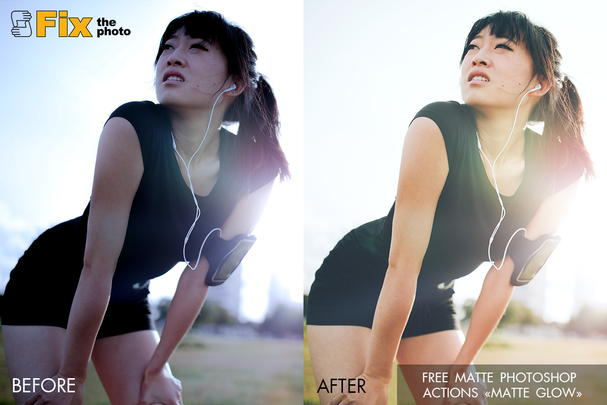 Free Photoshop Actions with Matte Effect