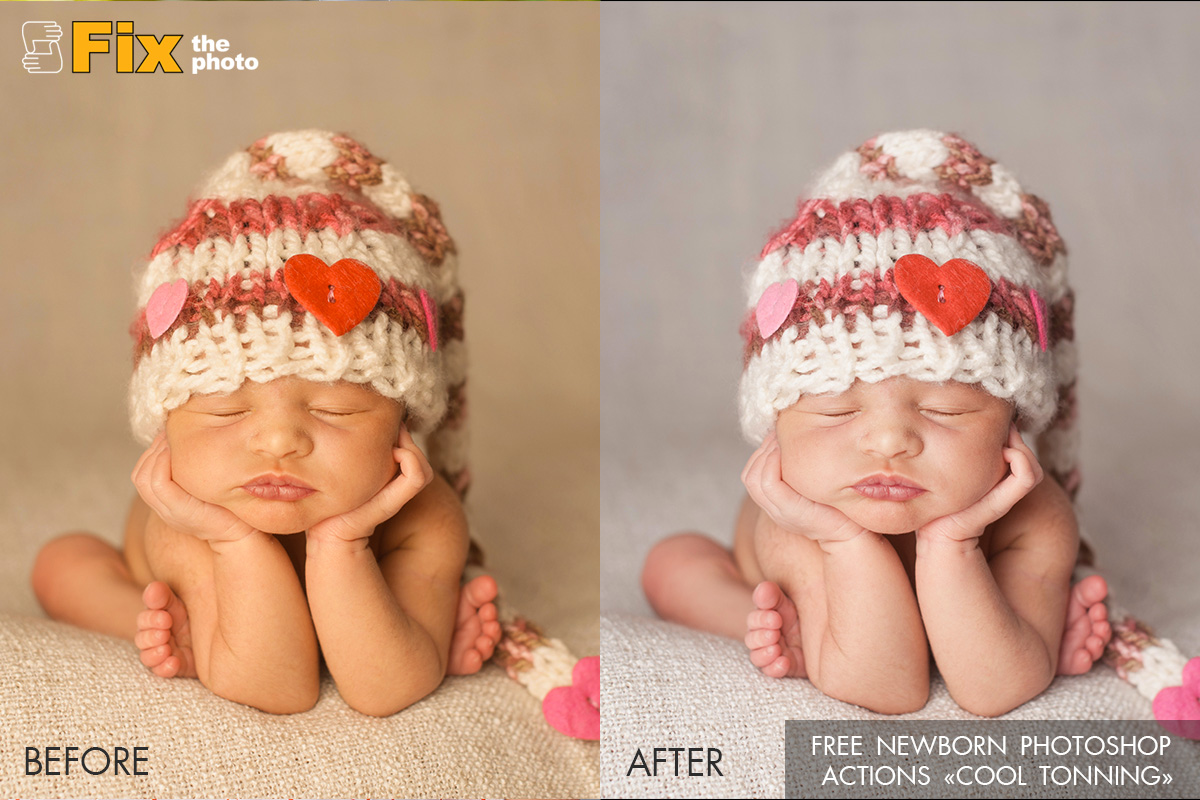 Free photoshop action for newborn shooting