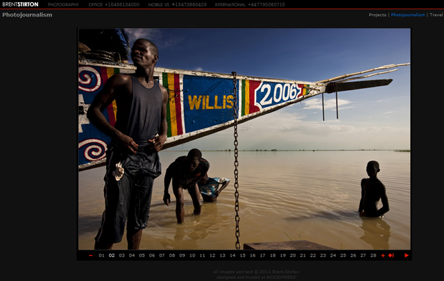 Brent Stirton.com - Create a Website for your Photography
