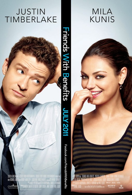 Friends with Benefits - Movie Posters with Romantic Photography