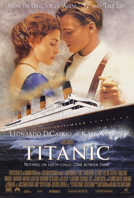 movie posters with romantic photography