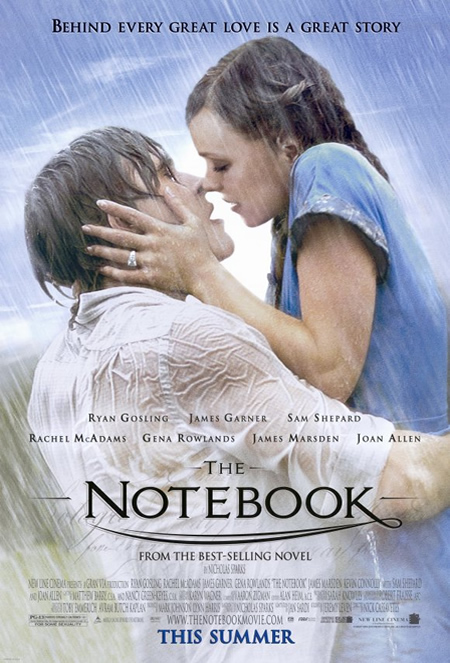 The Note Book - Movie Posters with Romantic Photography