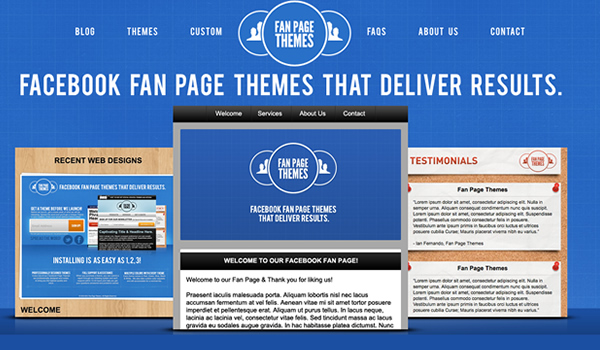 Facebook Fan Page Themes