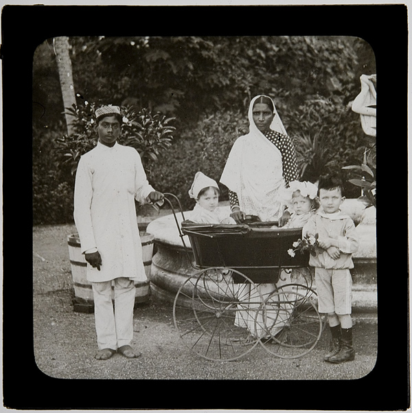 White children, Indian carers