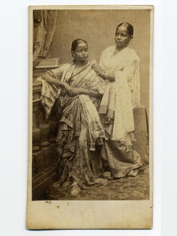 Two Indian Ladies in Sari - Studio Portraits