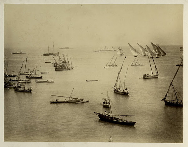 The Harbour from the Yacht Club - Bombay