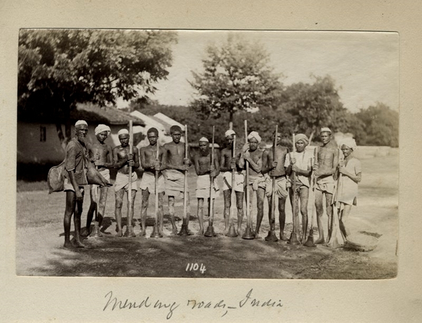 Group Photograph of Workers Repairing Road