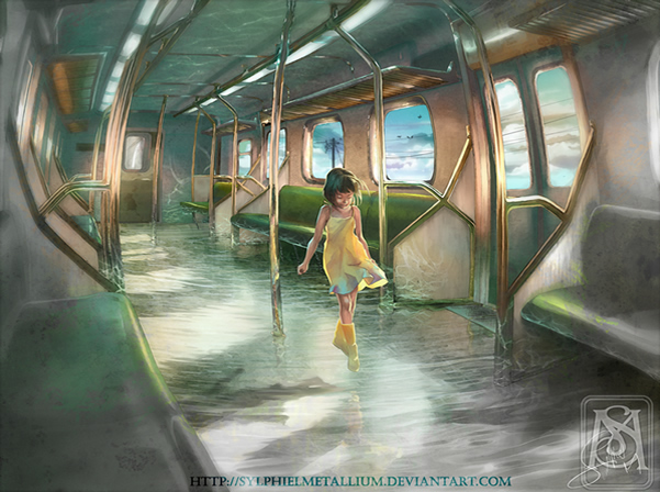Densha - Strange travel - Digital Paintings