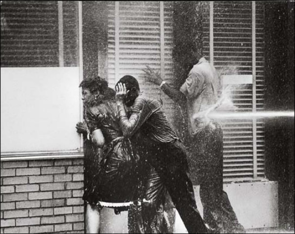 Civil rights movement firehose by Charles Moore