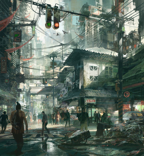 Street Scene - 25 Truly Amazing Digital Paintings