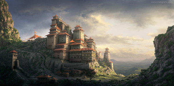 Chinese Monastery Concept - 25 Truly Amazing Digital Paintings