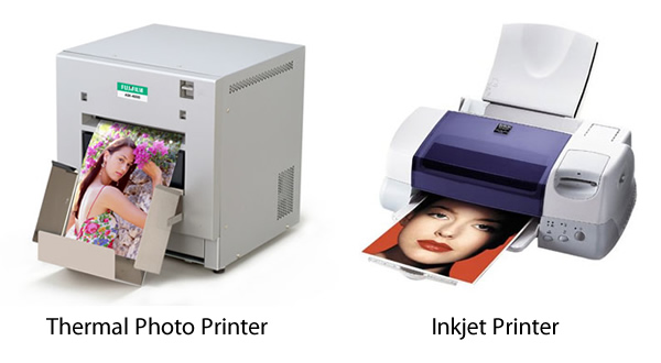 Thermal and inkjet photo printing compared