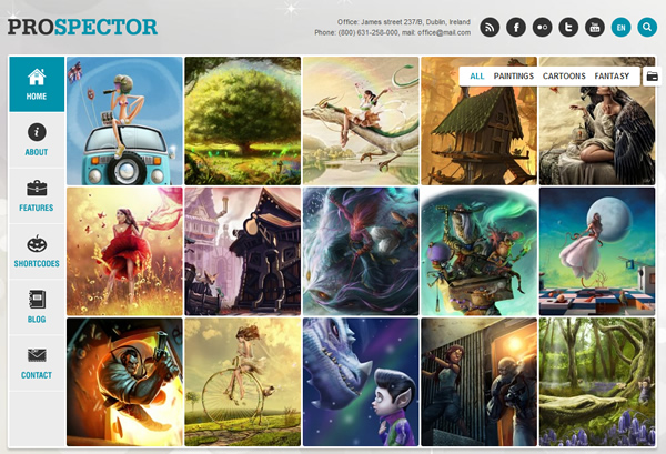 Prospector Portfolio WordPress Theme