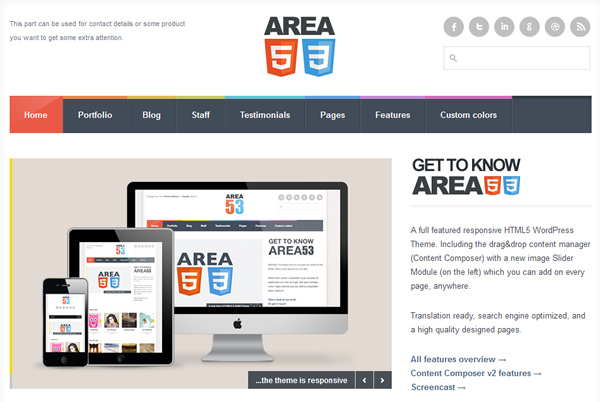 AREA53 - A Responsive HTML5 WordPress Theme