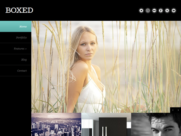 Boxed - Responsive Full Background Portfolio Theme