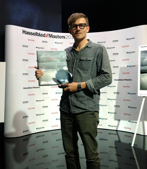Ken Hermann - Getting the Hasselblad Master 2012 award at Photokina