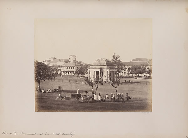 Cornwallis Monument and Secretariat, Bombay (Mumbai), 1855-1862