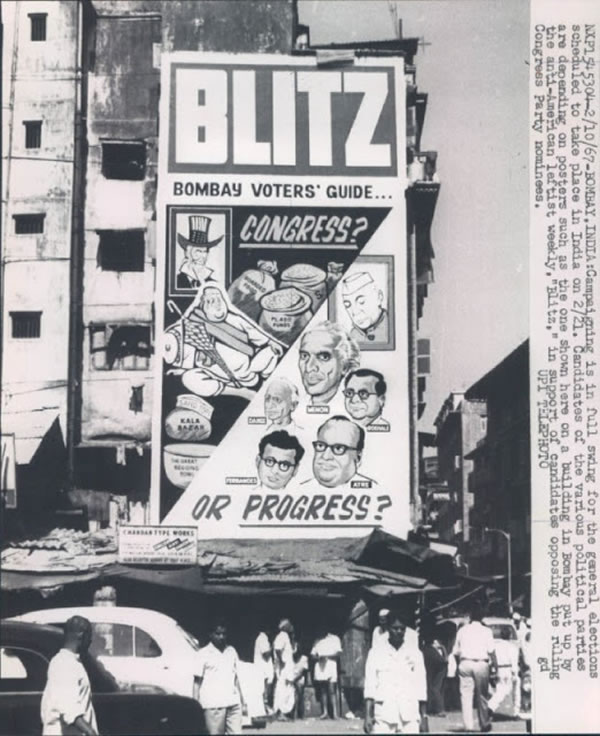 General Elections Campaingning Press Photograh - Bombay (Mumbai) 1967