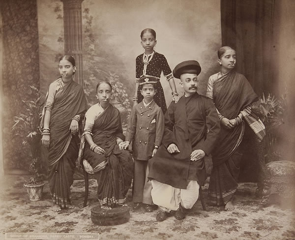 Group of Brahmins, Bombay (Mumbai) - 1870